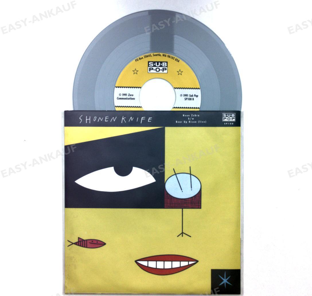 Shonen-Knife-Neon-Zebra-USA-7in-1991-Sub-Pop-Grey-Vinyl-1
